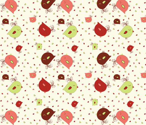 Sweet Tweets fabric by jpdesigns on Spoonflower - custom fabric