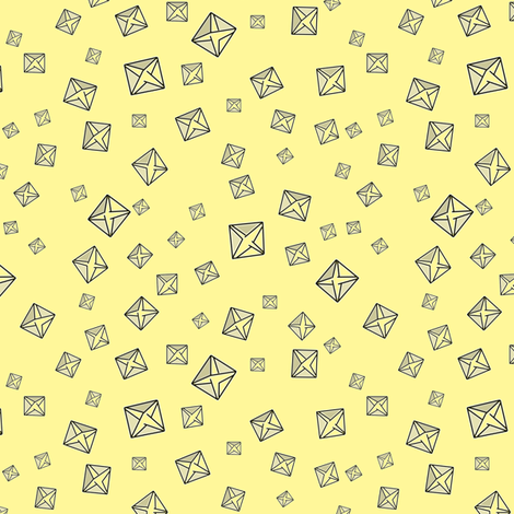 Calcium Oxalate Crystals on Normal Yellow fabric by draigathar on Spoonflower - custom fabric