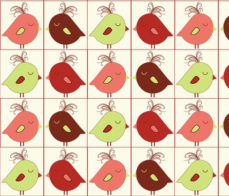 Sweet Tweets Blocks fabric by jpdesigns on Spoonflower - custom fabric