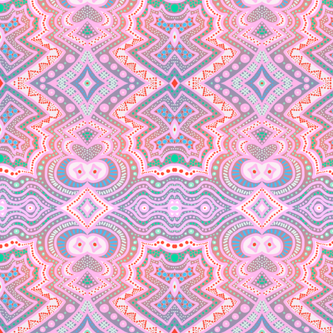 Here's looking at you... orange-gray gradient background by Su_G fabric by su_g on Spoonflower - custom fabric