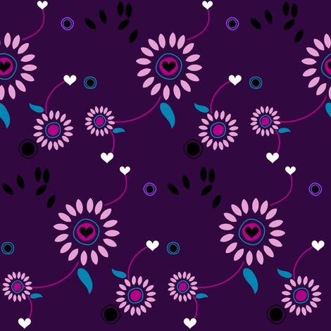 Rrrrrrrdaisydotspurpleblacktealpinksbypinksodapopmedium_hearts_shop_preview