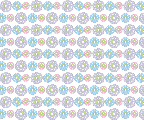 Unicorn Collection Multi Medallions fabric by mainsail_studio on Spoonflower - custom fabric