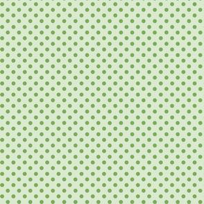 Moss green polka dots