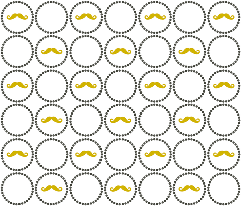 Mustache Playful - Large fabric by newmomdesigns on Spoonflower - custom fabric