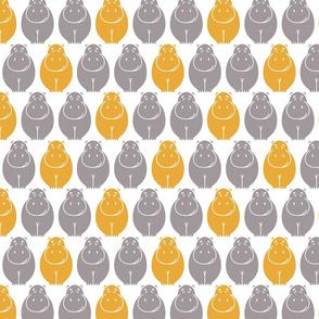Hippos- yellow pop!_LARGE