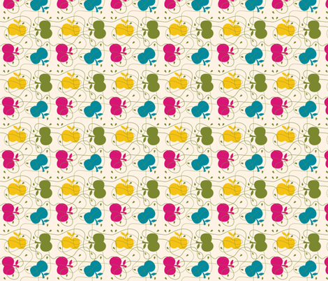 apple fabric by bora on Spoonflower - custom fabric