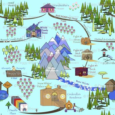 Fairy Tale Map - Blue