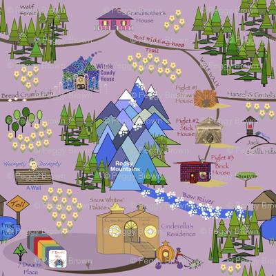 Fairy Tale Map - Purple