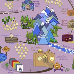 Fairy Tale Map - Purple