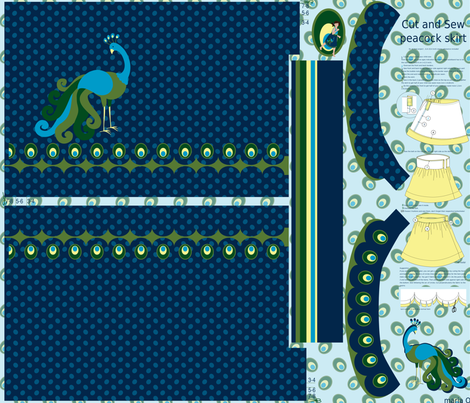 Ready to sew peacock skirt fabric by mariao on Spoonflower - custom fabric