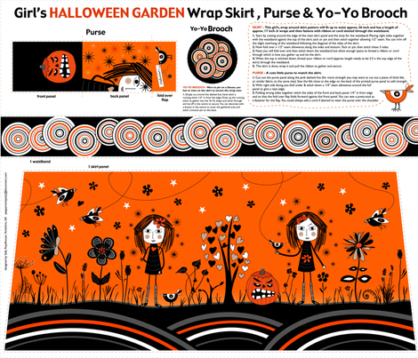 Halloween_garden_skirt fabric by peppermintpatty on Spoonflower - custom fabric