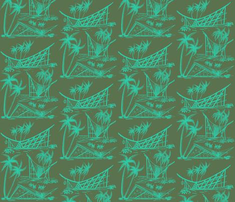 A-Frames  twilight fabric by sophista-tiki_by_dawn_frasier on Spoonflower - custom fabric