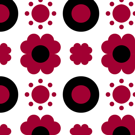 Geo Poppy Classic fabric by courtandspark on Spoonflower - custom fabric