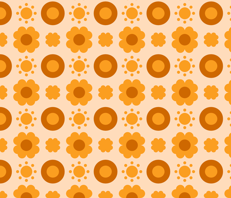 Geo Poppy Sunshine fabric by courtandspark on Spoonflower - custom fabric