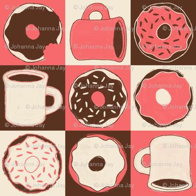 "Coffee & ""Doh""nuts (Peach)"