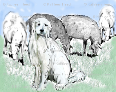 Great Pyrenees Pastoral