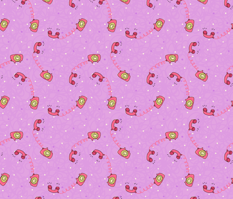 Tiny Telephones fabric by sugarcookie on Spoonflower - custom fabric