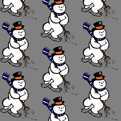 Skiing Snowman fabric by meaganrogers on Spoonflower - custom fabric