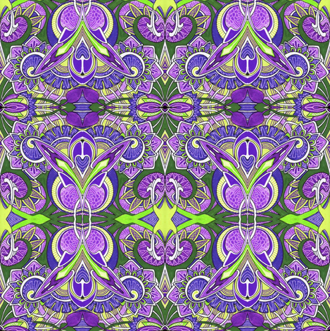 Because Little Girls Believe in Fairies (violet) fabric by edsel2084 on Spoonflower - custom fabric