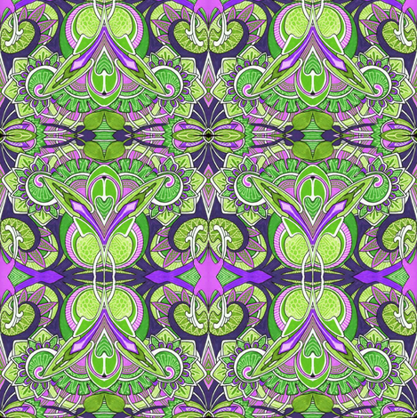 Because Little Girls Believe in Fairies (lime) fabric by edsel2084 on Spoonflower - custom fabric