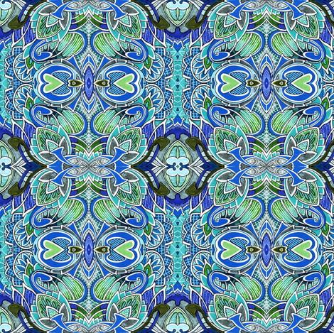 Artichokes in Monterey fabric by edsel2084 on Spoonflower - custom fabric