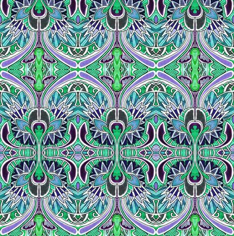 Nouveau_Deco_a_Go_Go_green fabric by edsel2084 on Spoonflower - custom fabric