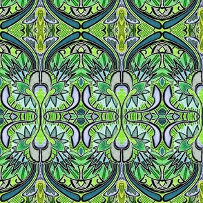 Nouveau Deco a Go Go (in negative green)