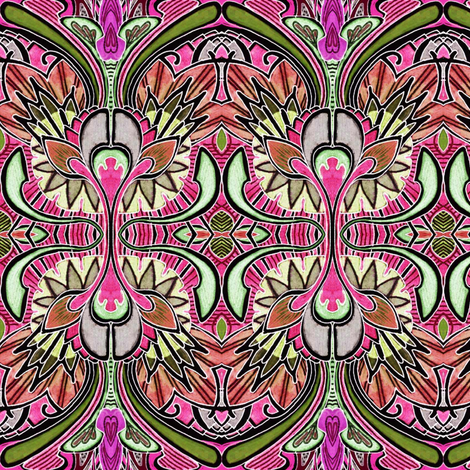 Nouveau Deco a Go Go (in negative) fabric by edsel2084 on Spoonflower - custom fabric