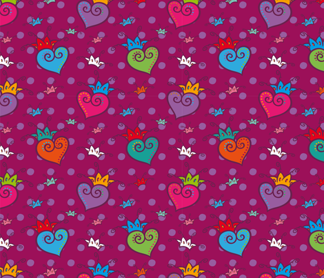 Reine_de_Coeur fabric by cassiopee on Spoonflower - custom fabric