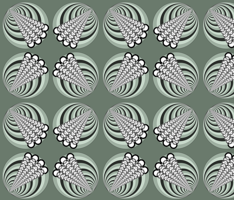 Wheels... green party fabric by wiccked on Spoonflower - custom fabric