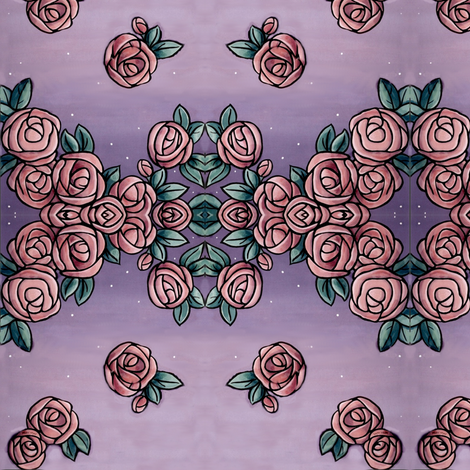 Twilight_rose_vintage_perfume_advert_picture fabric by vinkeli on Spoonflower - custom fabric