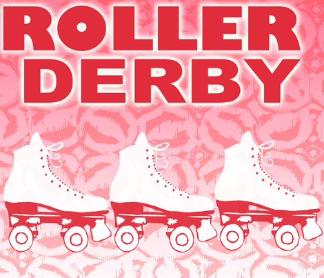 roller_derby_ fabric by nickinic99 on Spoonflower - custom fabric
