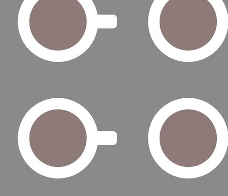 Mod Coffee Cup Maxi fabric by carolina_medberg on Spoonflower - custom fabric