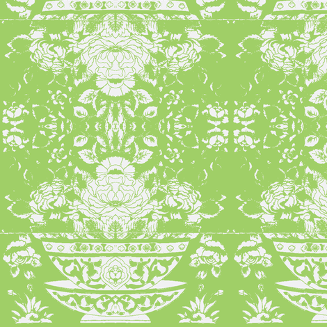 Chinese Tee Bowl lightgreen fabric by miss_blümchen on Spoonflower - custom fabric