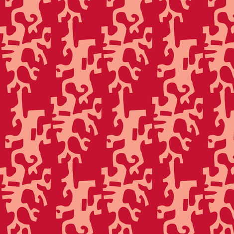 Coral Ladders fabric by boris_thumbkin on Spoonflower - custom fabric