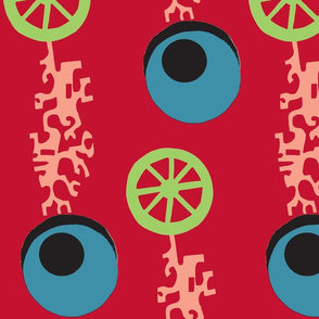 Evil Eyes,Wheels,Coral-ed