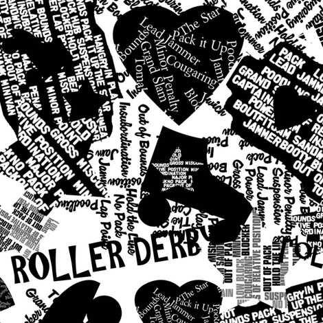 Do You Speak Roller Derby? fabric by owlandchickadee on Spoonflower - custom fabric
