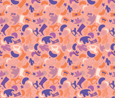 Cowgirl Baby fabric by acbeilke on Spoonflower - custom fabric