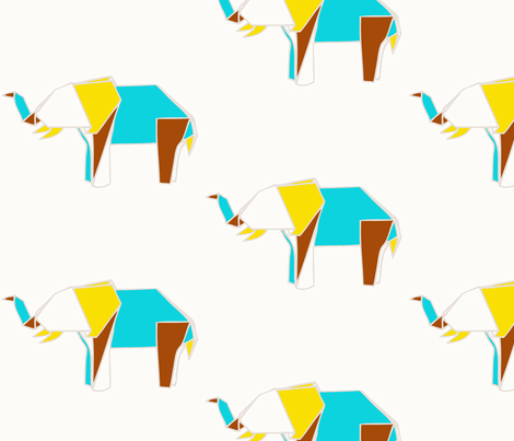 Elephant fabric by blueclouds on Spoonflower - custom fabric