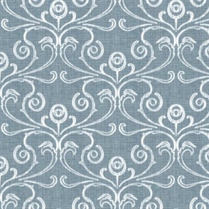 Petite Faded French Rose - Blue
