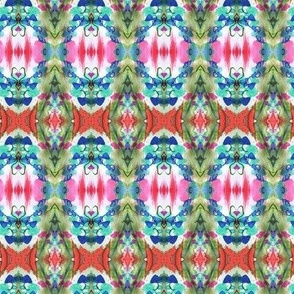 Christmas fabric, with a whimsical Christmas tree pattern