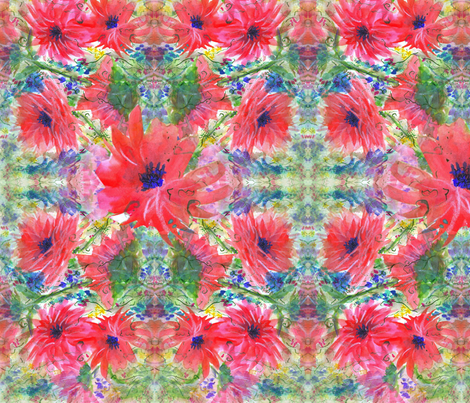 Elodie's Fairy Flowers  fabric by mariannemathiasen on Spoonflower - custom fabric