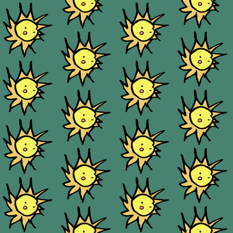 His Friend the Sun fabric by pond_ripple on Spoonflower - custom fabric