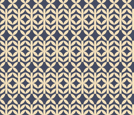 pea_shoots_navy fabric by holli_zollinger on Spoonflower - custom fabric