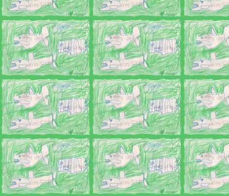 sharksfabricwaves fabric by serenity_ii on Spoonflower - custom fabric