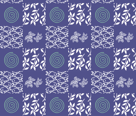 Swatch_test_cheater_quilt_blue-&-white-batik-patterns-for-gypsy-skirt fabric by mina on Spoonflower - custom fabric