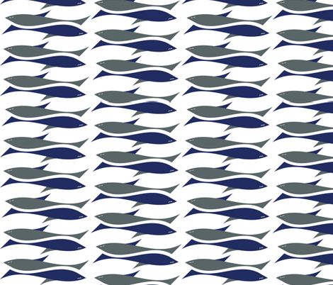 shark_duo fabric by rockpaperfabric_design on Spoonflower - custom fabric