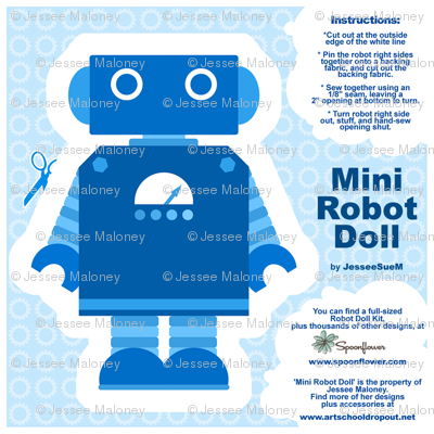 Mini Robot Doll - Blue