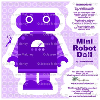 Mini Robot Doll - Purple