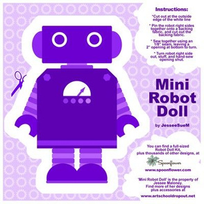 Mini Robot Doll - Purple